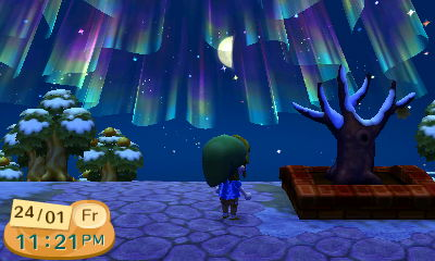 Aurora Borealis in Animal Crossing New Leaf