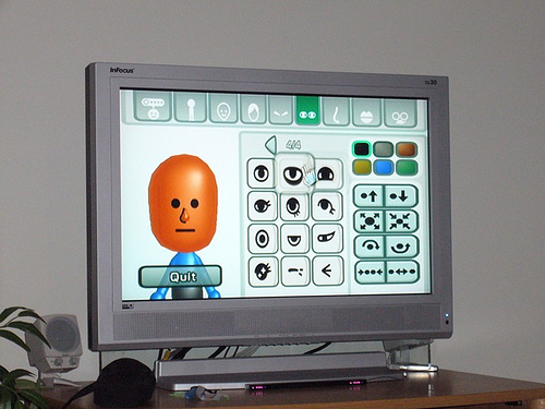 Miis on the screen